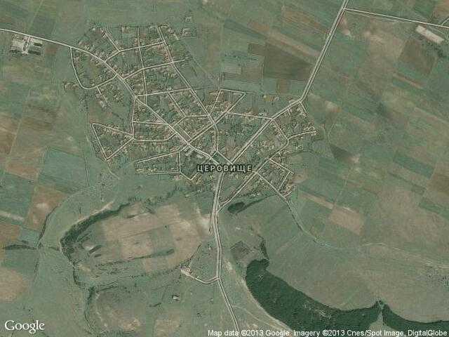 Сателитна карта на Церовище