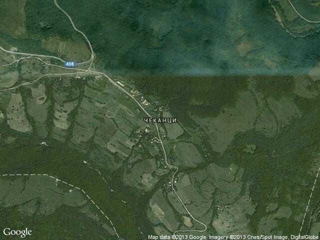 Сателитна карта на Чеканци
