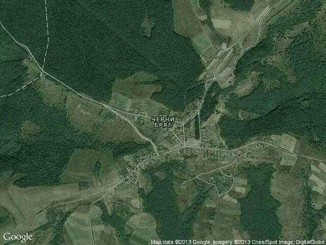 Сателитна карта на Черни бряг