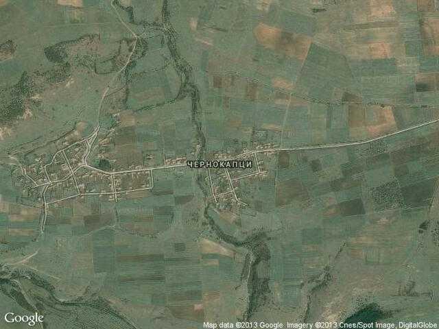 Сателитна карта на Чернокапци