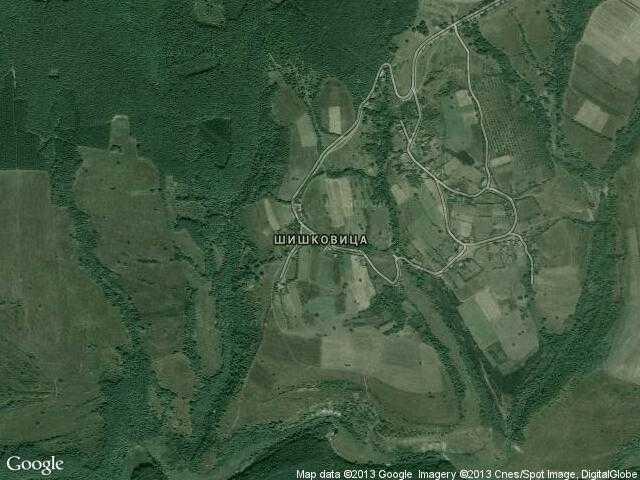Сателитна карта на Шишковица