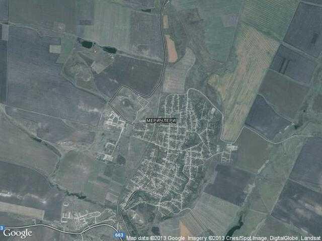 Сателитна карта на Меричлери