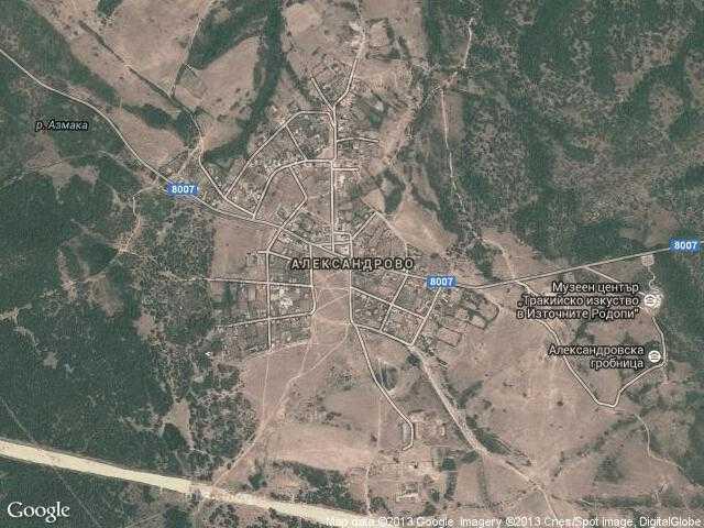 Сателитна карта на Александрово