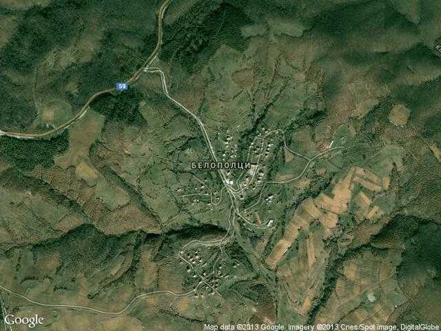 Сателитна карта на Белополци