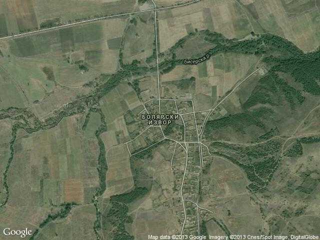 Сателитна карта на Болярски извор