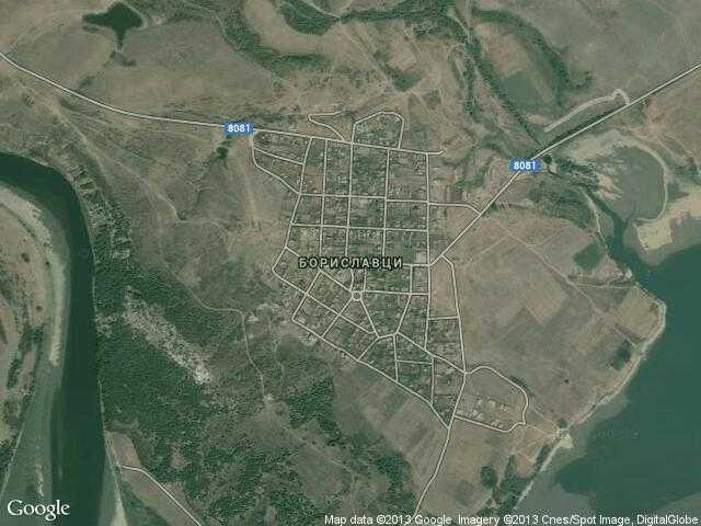 Сателитна карта на Бориславци