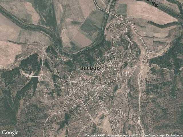 Сателитна карта на Брягово
