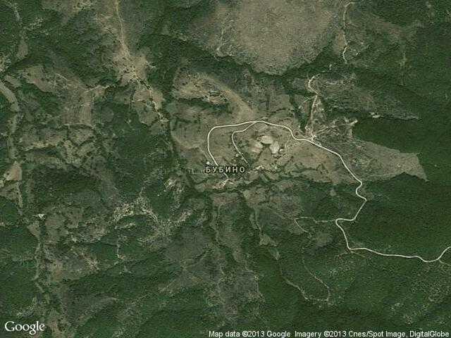 Сателитна карта на Бубино