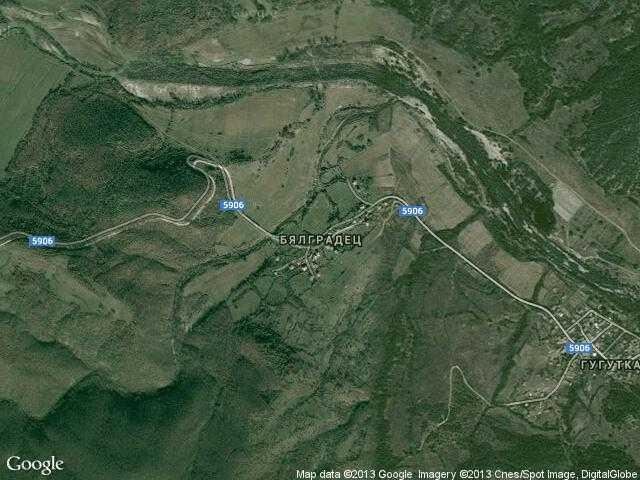 Сателитна карта на Бялградец