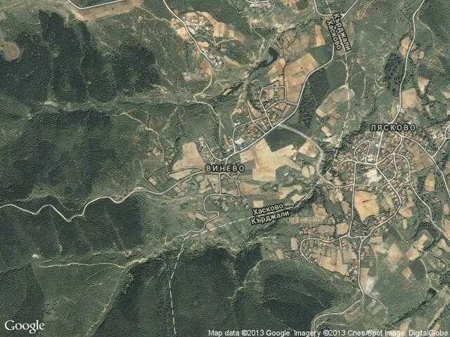 Сателитна карта на Винево