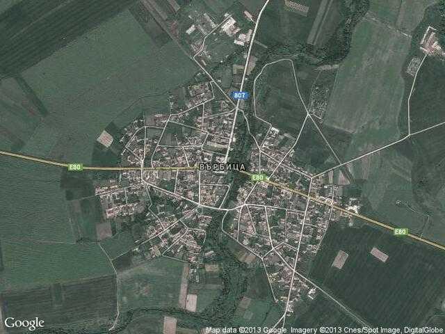Сателитна карта на Върбица