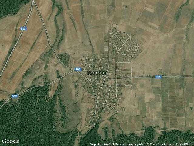 Сателитна карта на Върбово