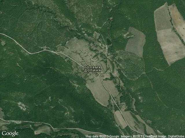 Сателитна карта на Голяма долина