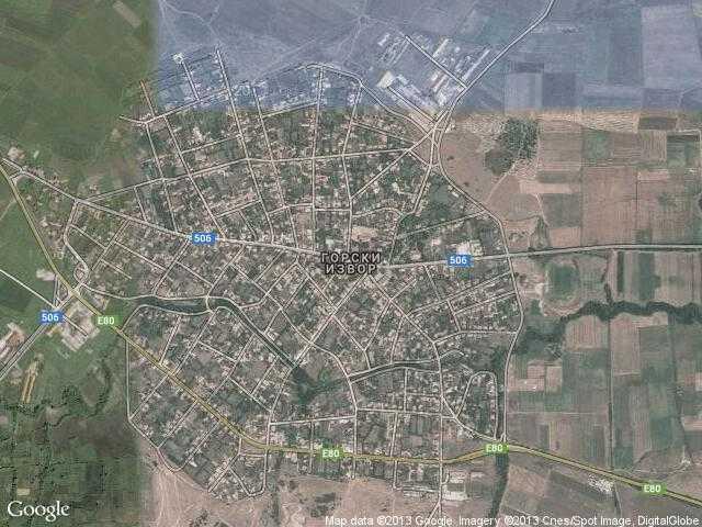 Сателитна карта на Горски извор