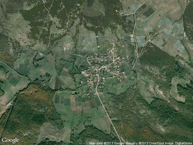 Сателитна карта на Гълъбец