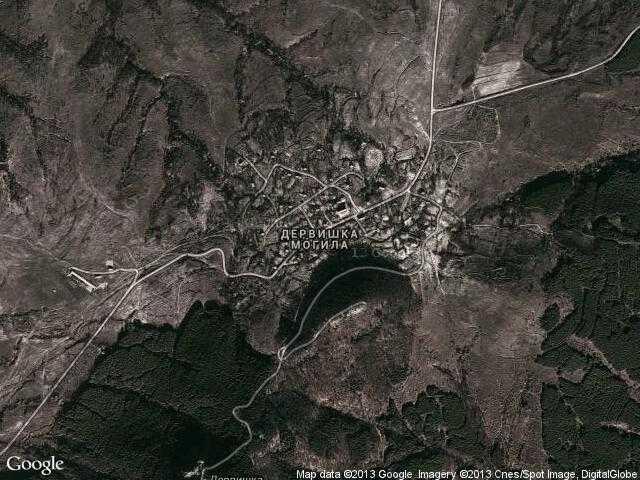 Сателитна карта на Дервишка могила