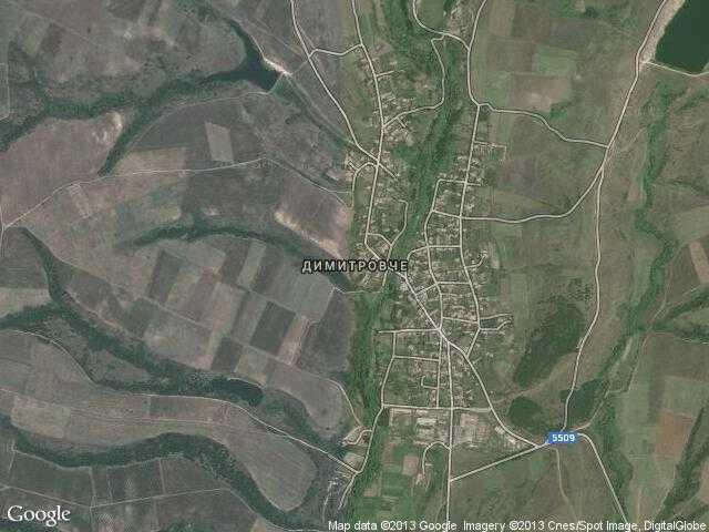 Сателитна карта на Димитровче