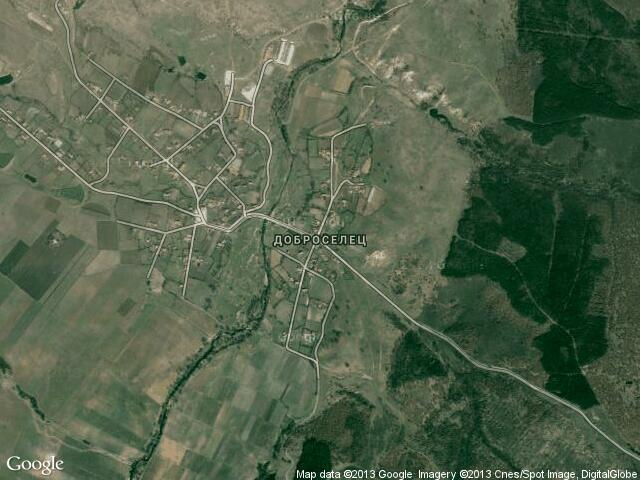 Сателитна карта на Доброселец