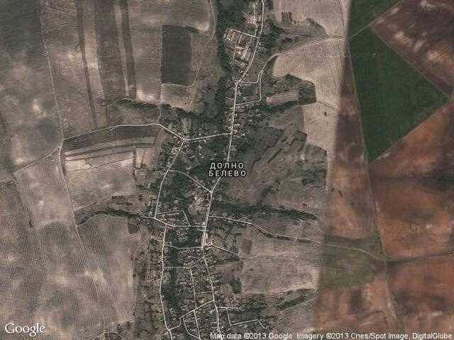 Сателитна карта на Долно Белево