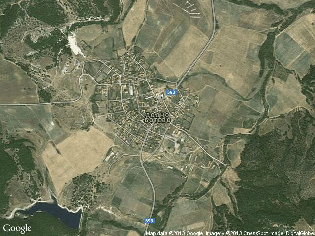 Сателитна карта на Долно Ботево