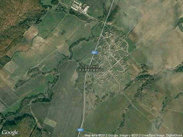 Сателитна карта на Долно Войводино