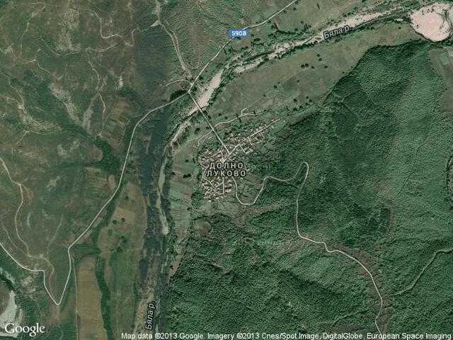 Сателитна карта на Долно Луково