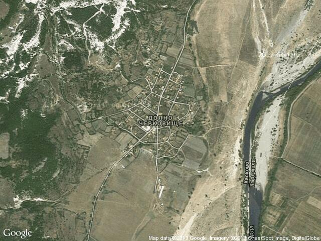 Сателитна карта на Долно Черковище