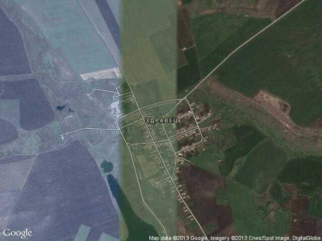 Сателитна карта на Здравец