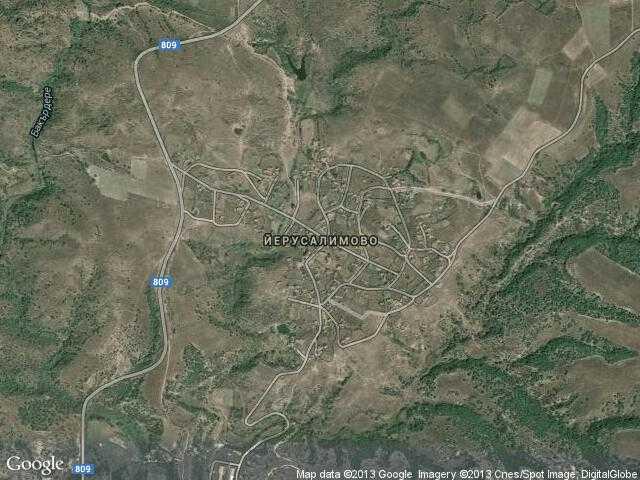 Сателитна карта на Йерусалимово