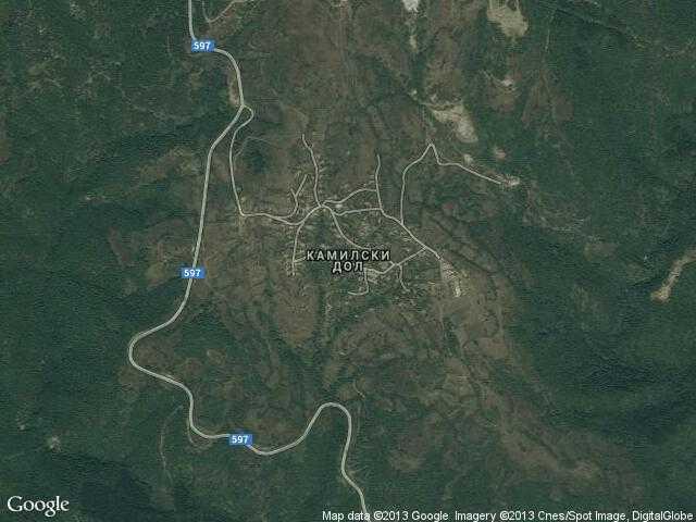 Сателитна карта на Камилски дол