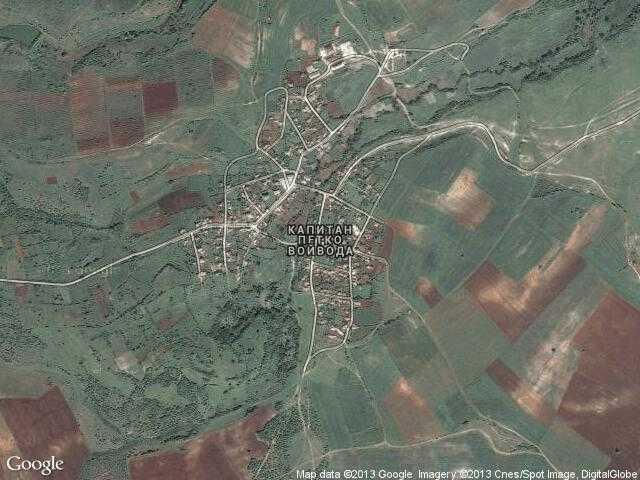 Сателитна карта на Капитан Петко войвода