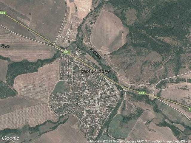 Сателитна карта на Клокотница