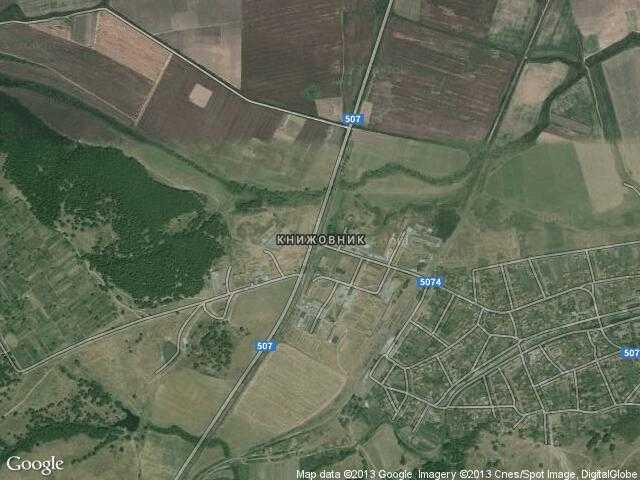 Сателитна карта на Книжовник
