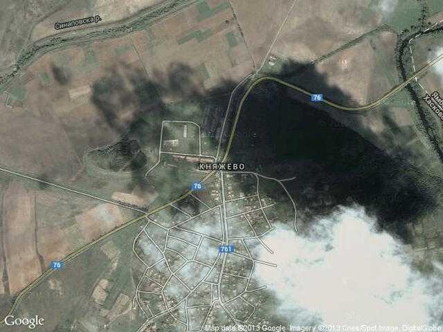 Сателитна карта на Княжево