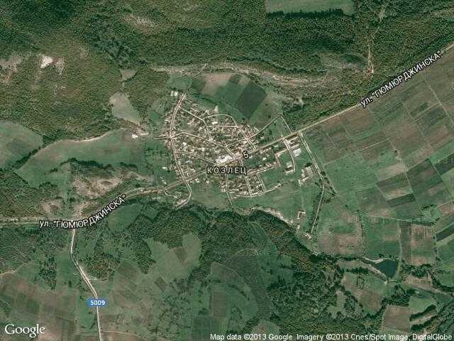 Сателитна карта на Козлец