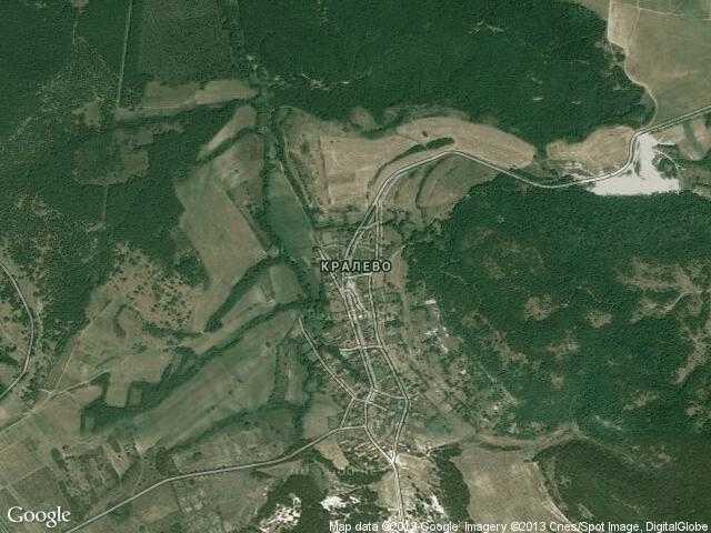 Сателитна карта на Кралево