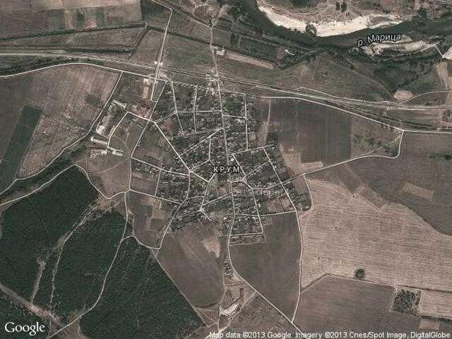 Сателитна карта на Крум