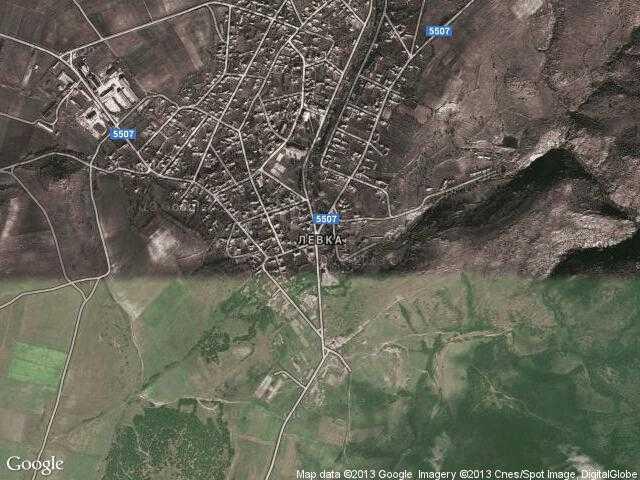 Сателитна карта на Левка