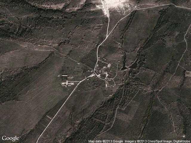 Сателитна карта на Лисово