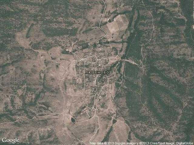 Сателитна карта на Любеново