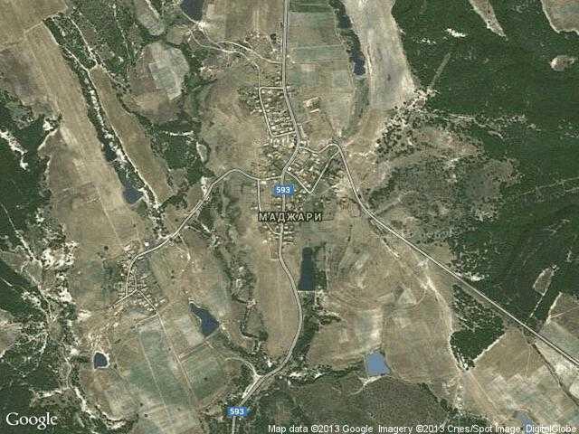 Сателитна карта на Маджари