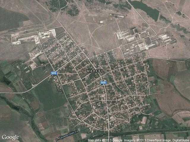 Сателитна карта на Малево
