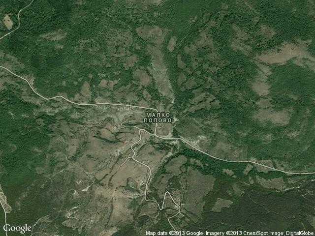 Сателитна карта на Малко Попово