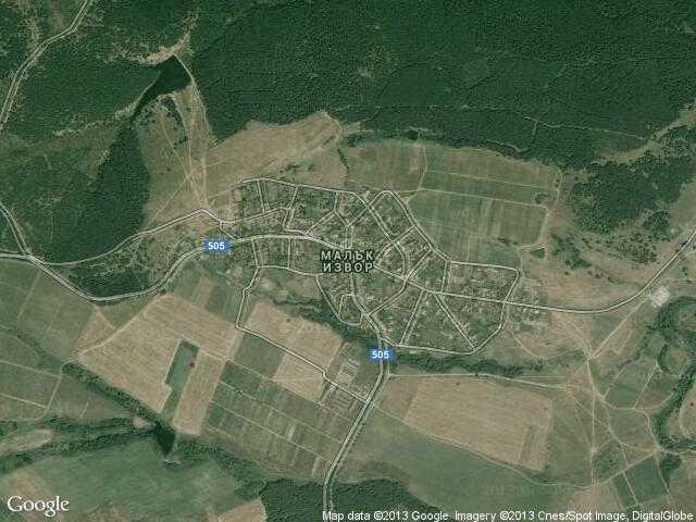 Сателитна карта на Малък извор