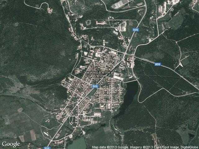 Сателитна карта на Минерални бани