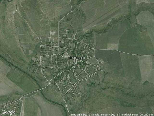 Сателитна карта на Навъсен