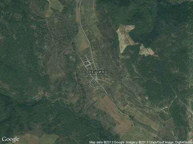 Сателитна карта на Орешино