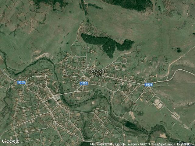 Сателитна карта на Орлов дол