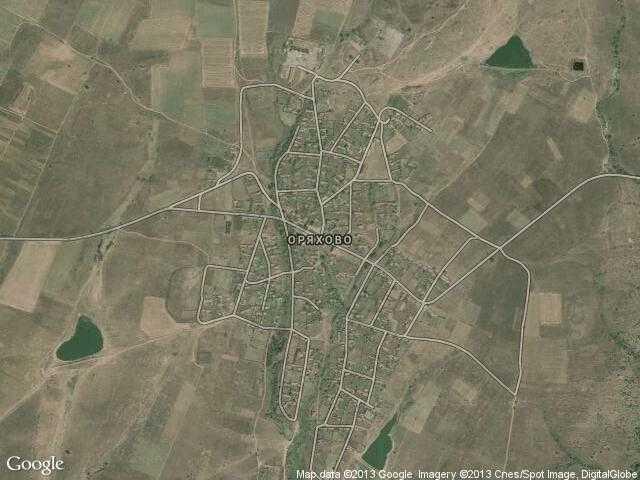 Сателитна карта на Оряхово