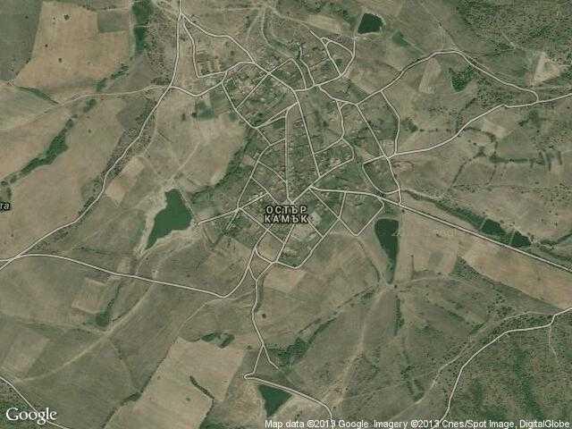 Сателитна карта на Остър камък